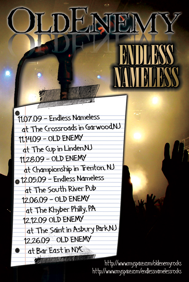 Old Enemy/Endless Nameless November-December Postcard