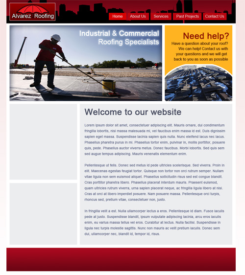 Alvarez Roofing Website Design & Development