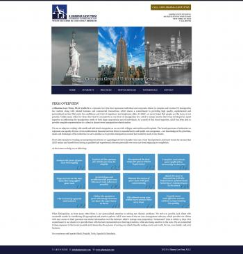 A Sharma Law Firm, PLLC Website Development
