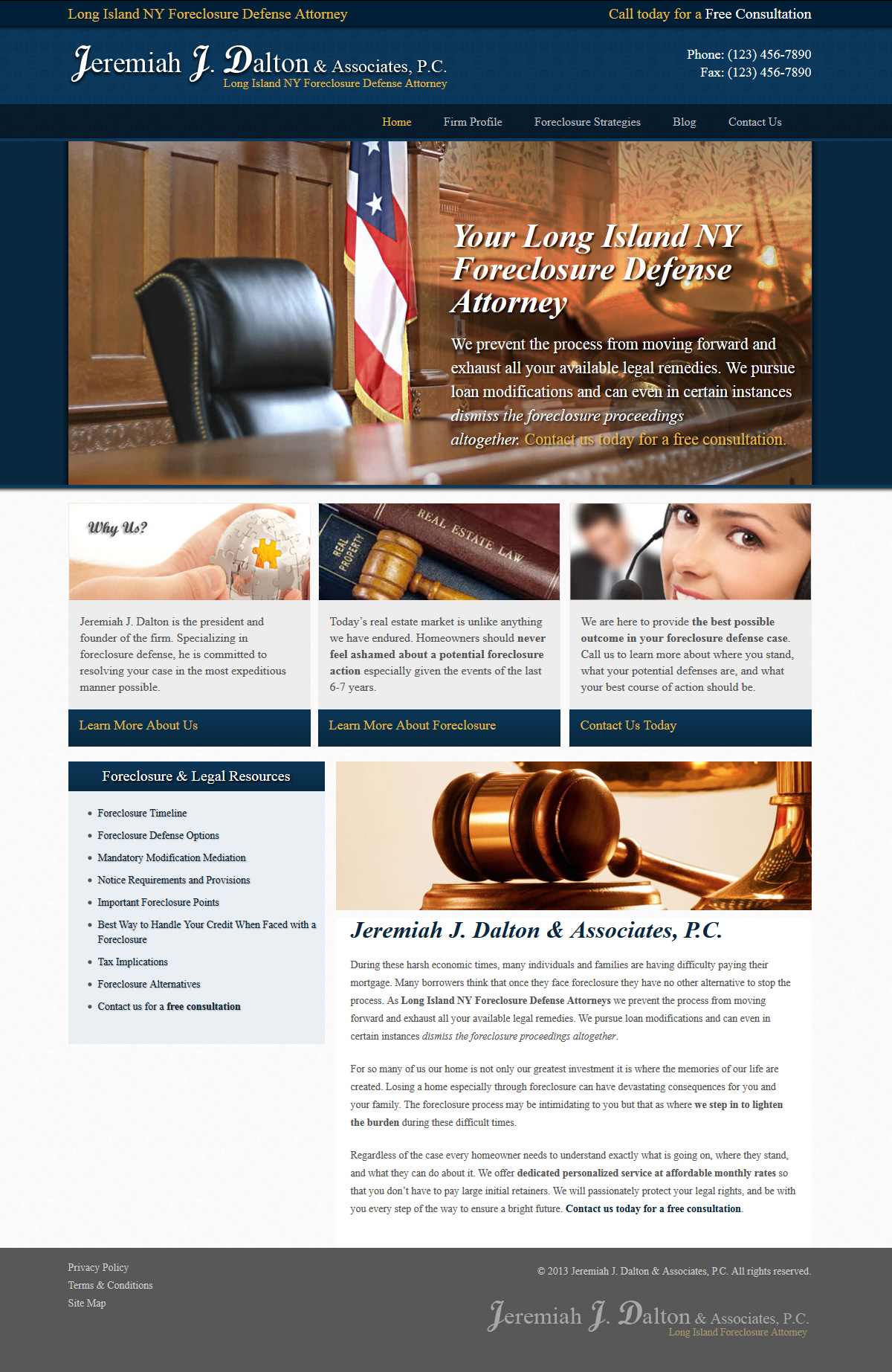 LI Foreclosure Attorney Website Design & Development