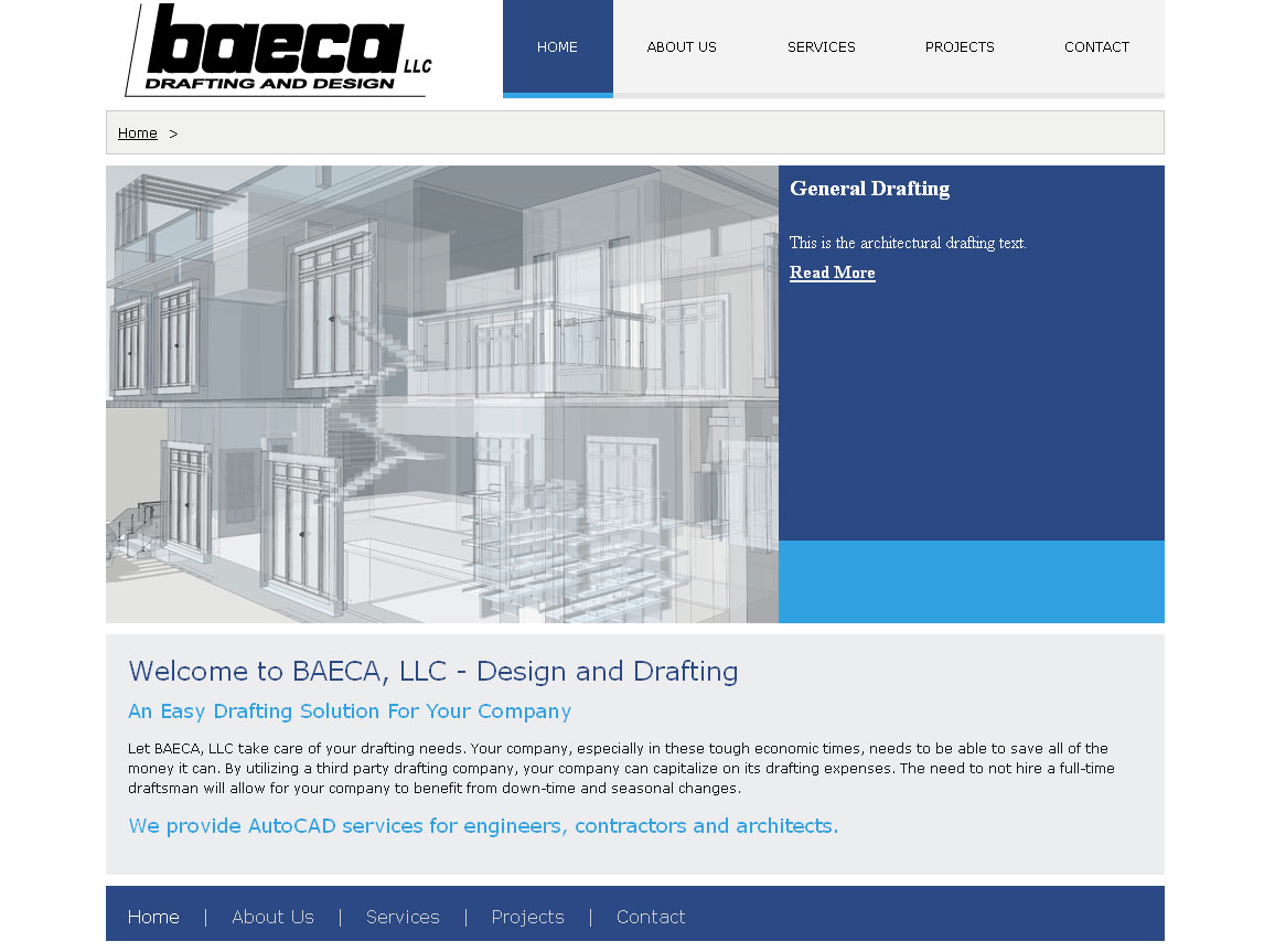 BAECA, LLC - Design and Drafting Website