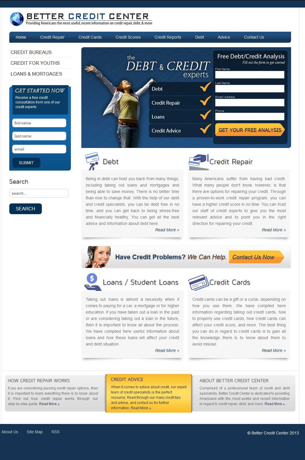 Better Credit Center Website Design & Development