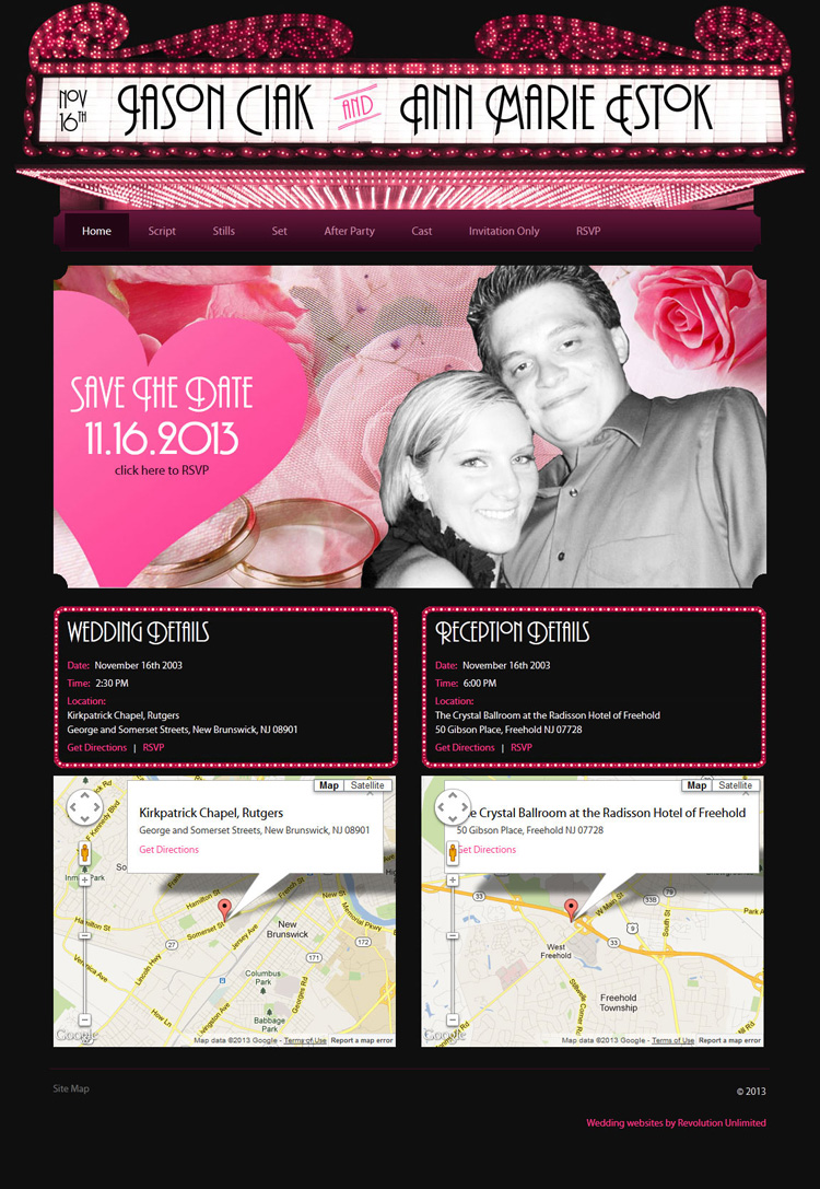Ciak-Estok Wedding Website