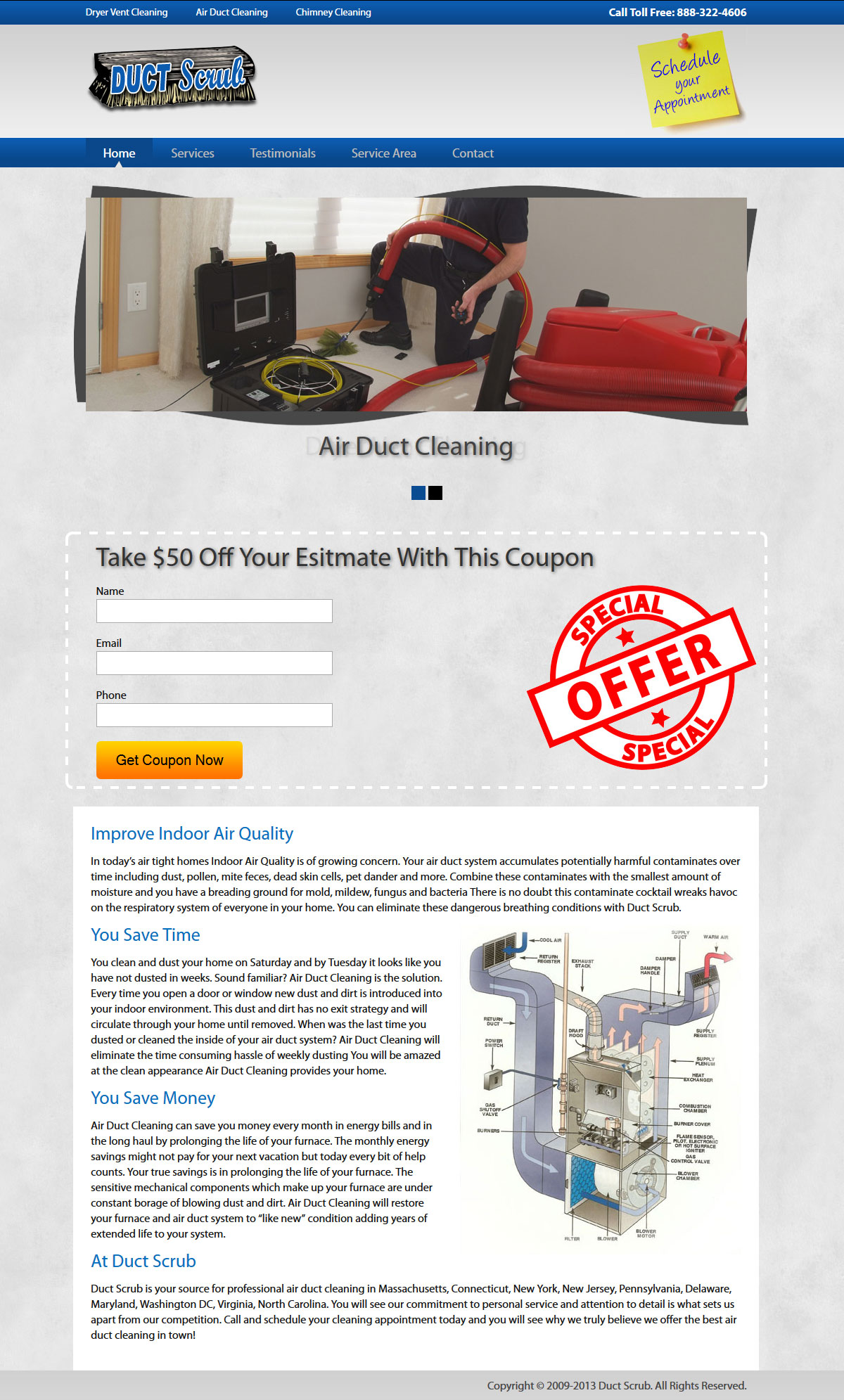Duct Scrub Website Design & Development