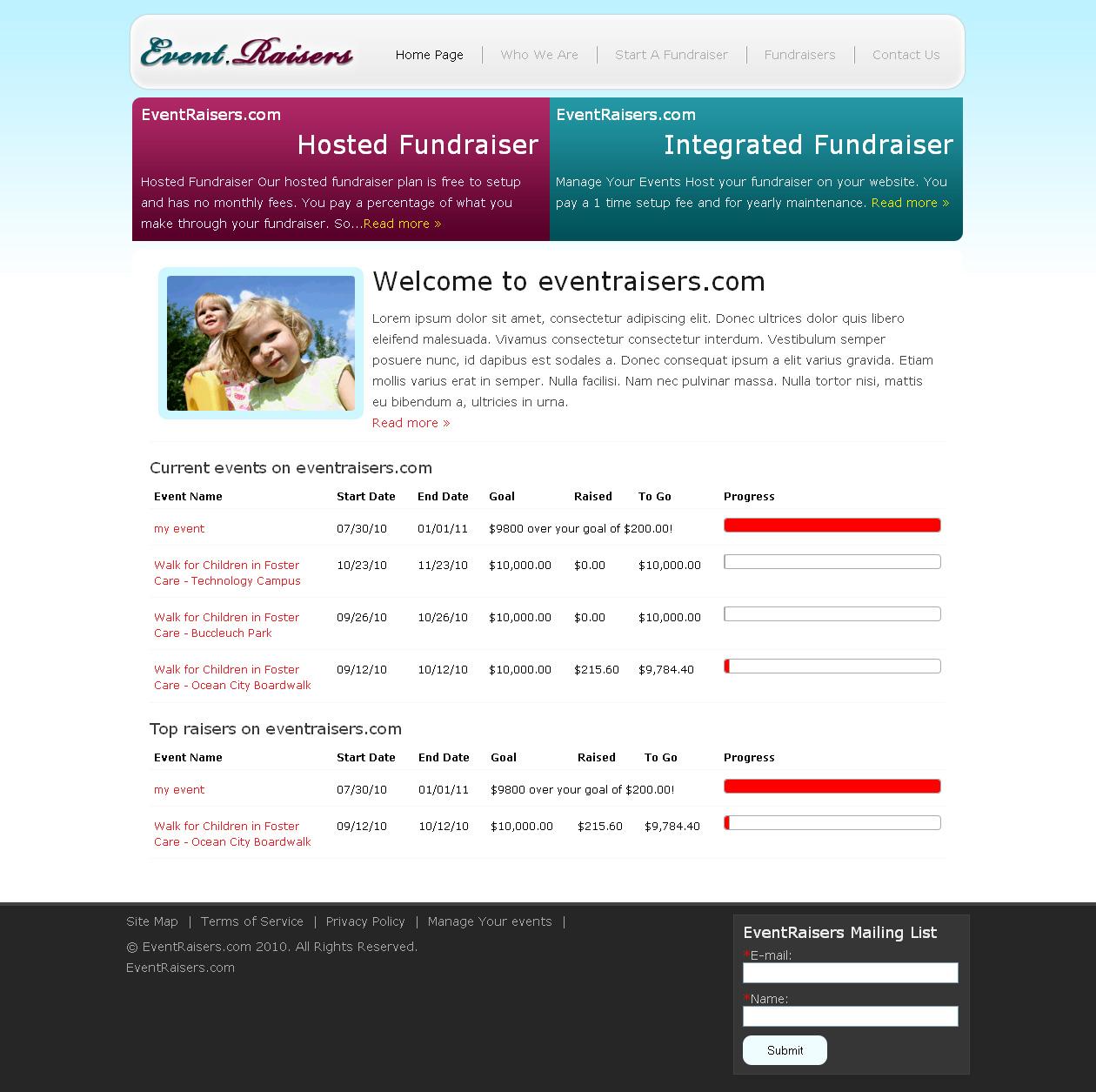 Eventraisers.com Free Online Fund Raiser Software