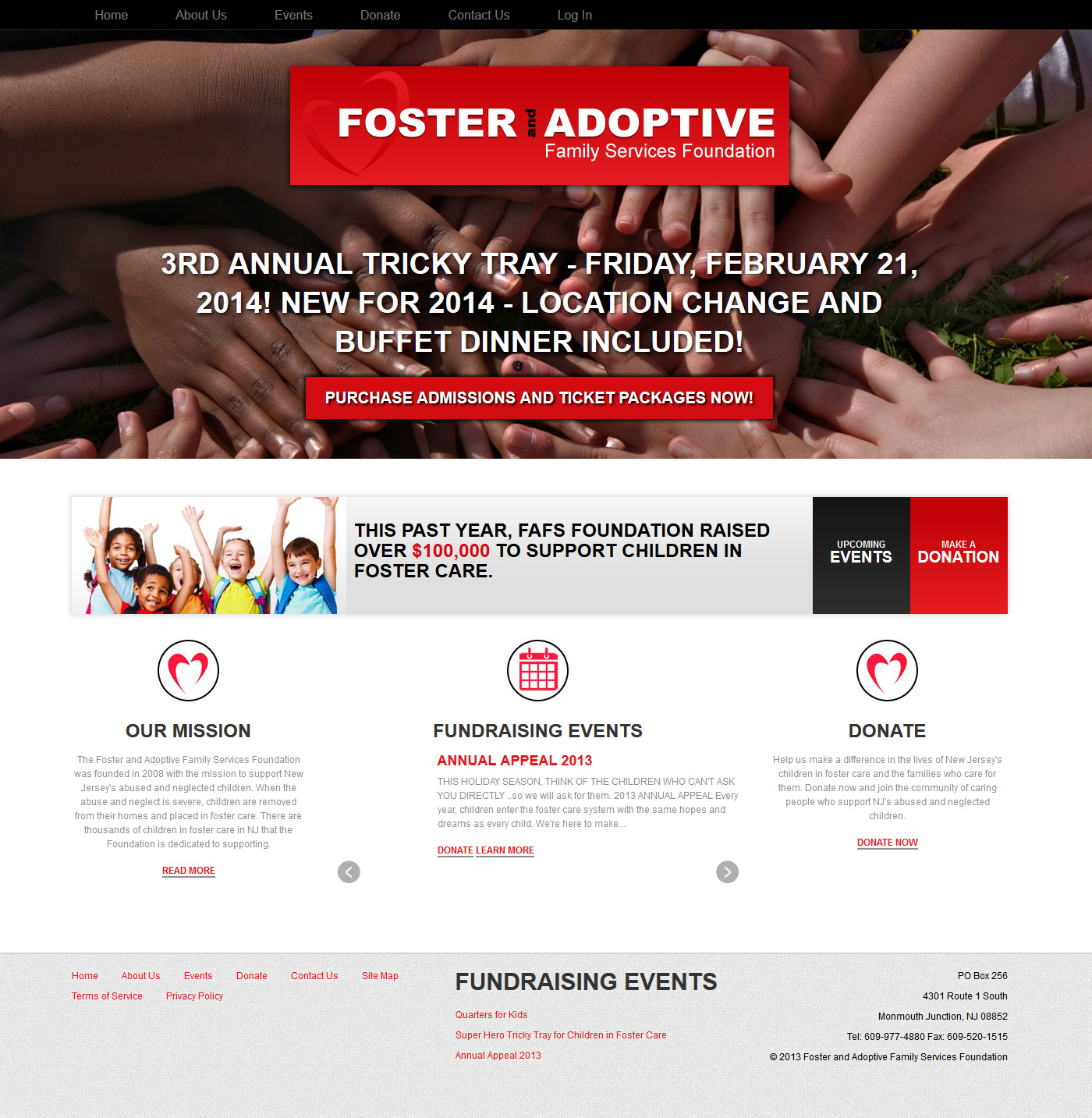 Foster and Family Services Fundraising Website Re-Design