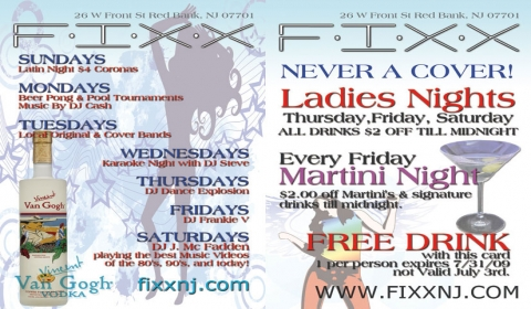 FIXX July Postcard Design