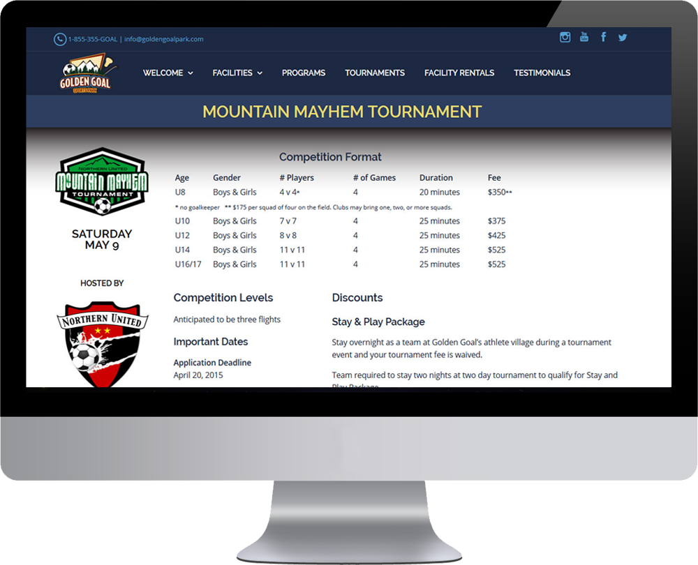 Golden Goal Wordpress Website Updates