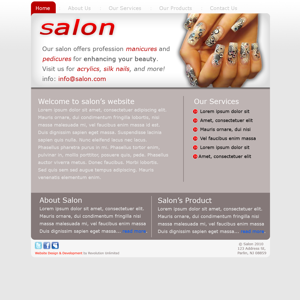 Salon & Spa Website Design