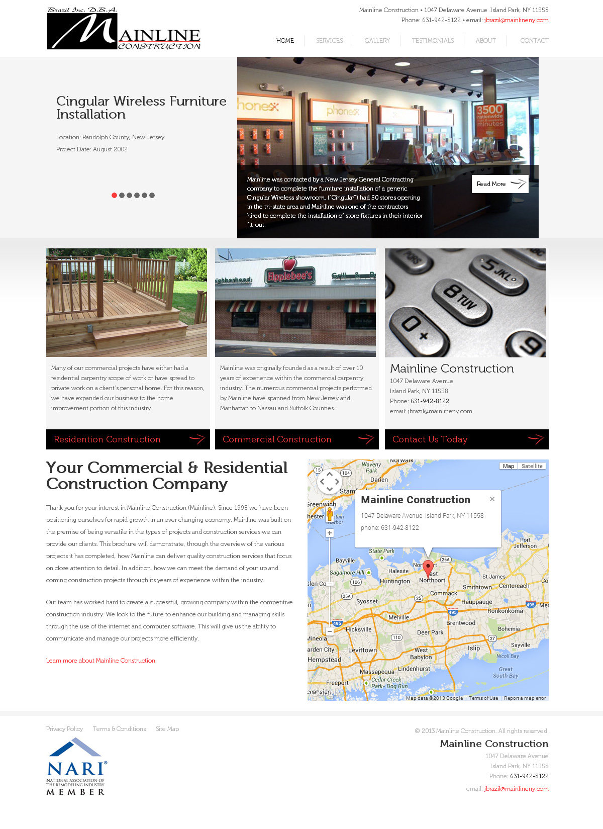 Mainline Construction NY Website Design & Development