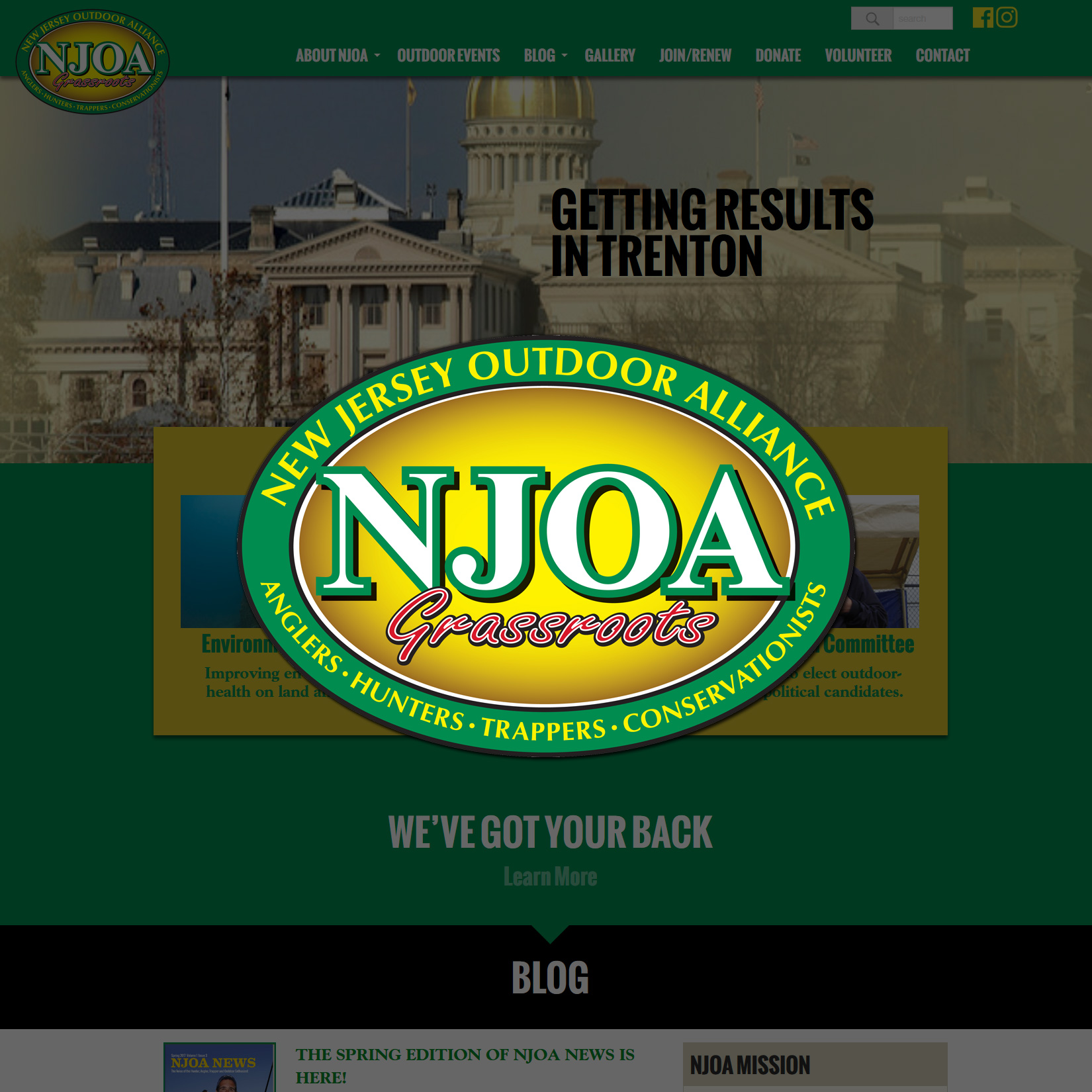 New Jersey Outdoor Alliance Wordpress Website