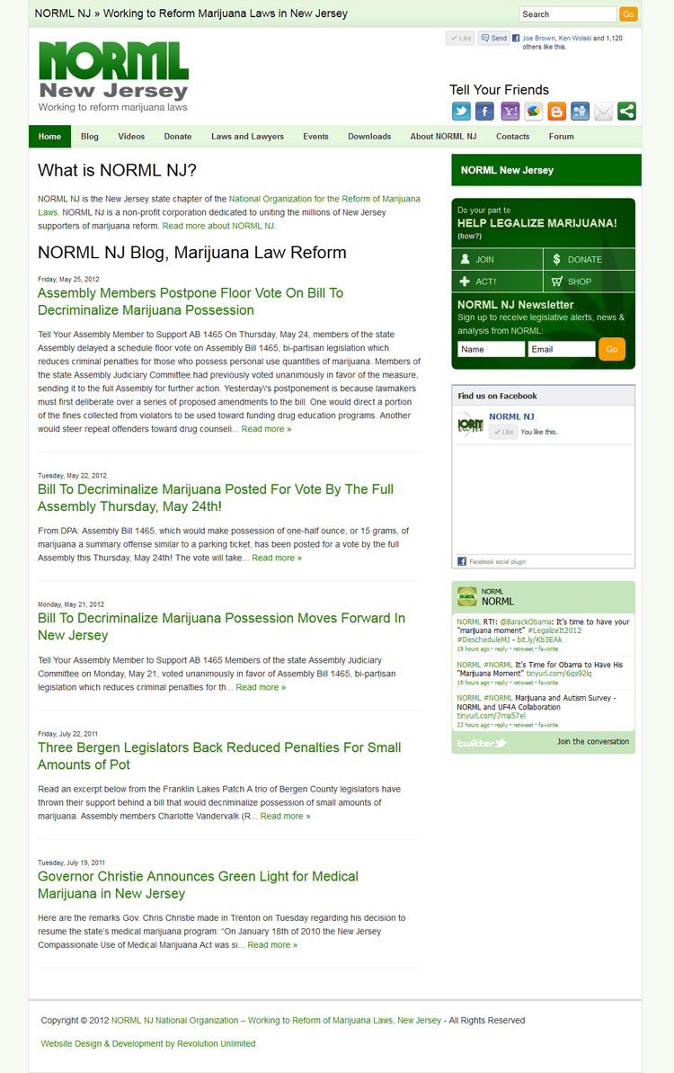 NORML NJ Website Development