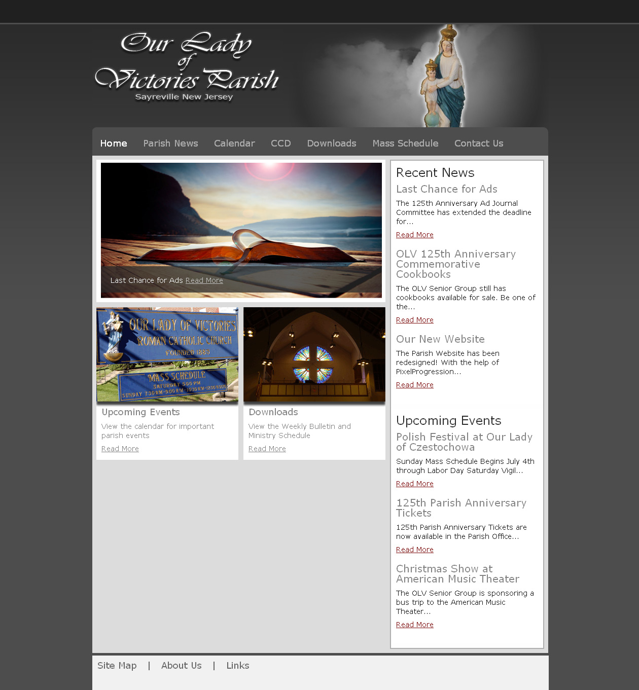 Our Lady of Victories Parish Website Design