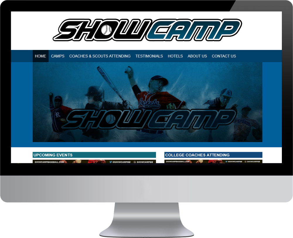 Showcamp Baseball Website