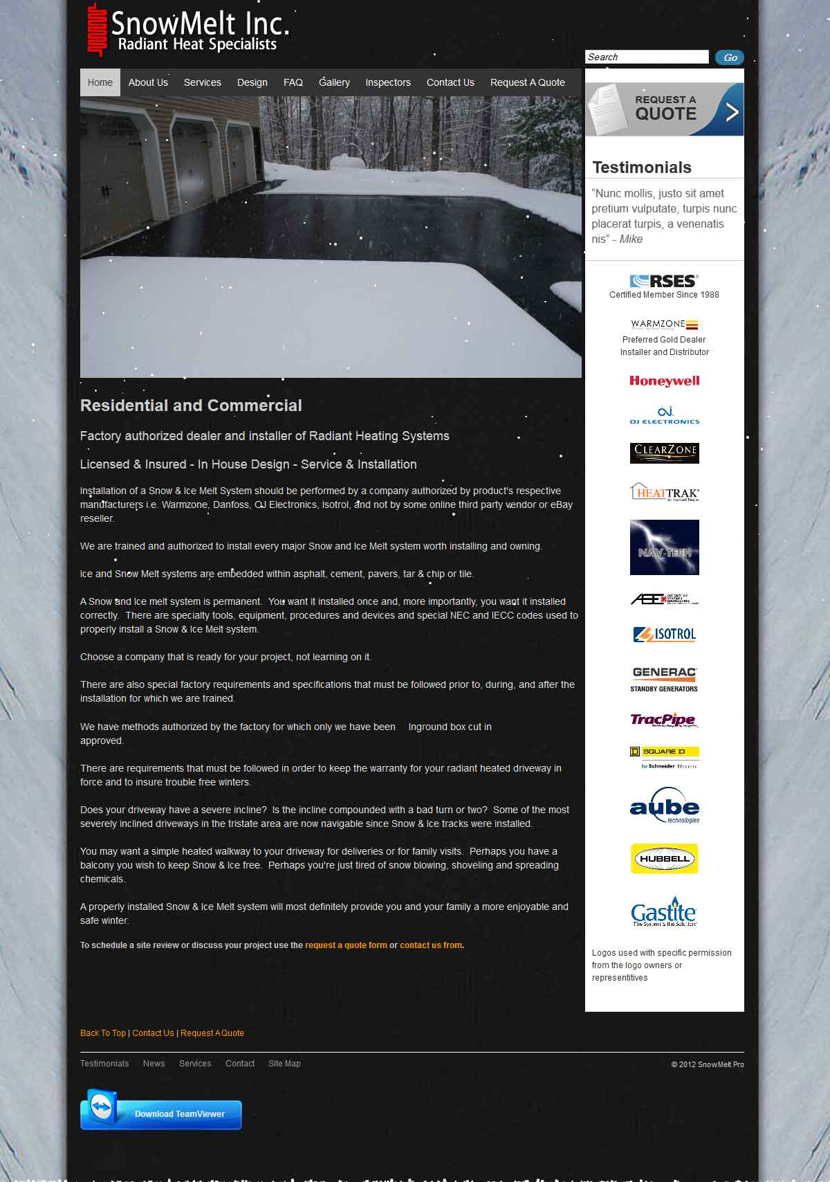 SnowMelt Inc. Website Development & Custom CMS