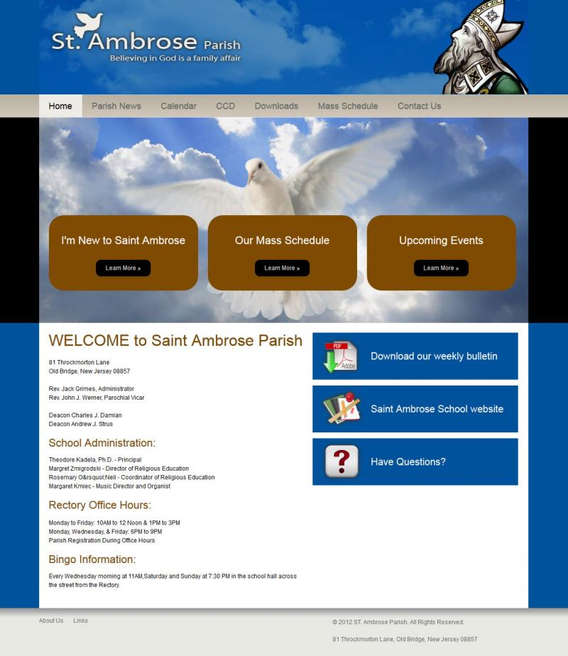 Saint Ambrose Parish Website