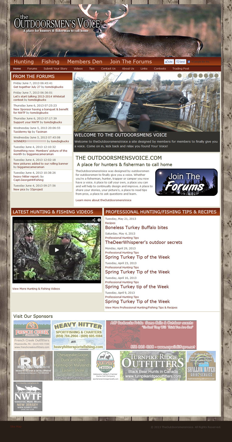 The Outdoorsmen's Voice Website Re-Design