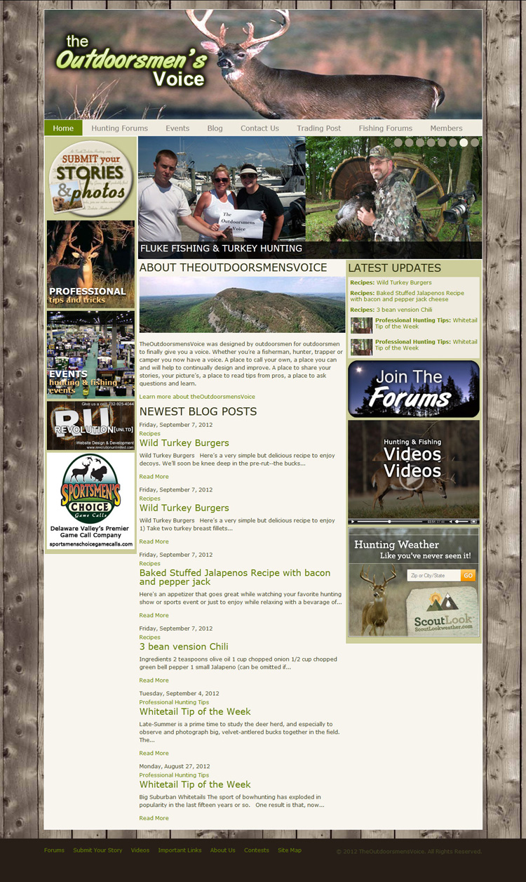 The Outdoorsmen's Voice Website