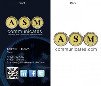 ASM Communicates Business Card Design