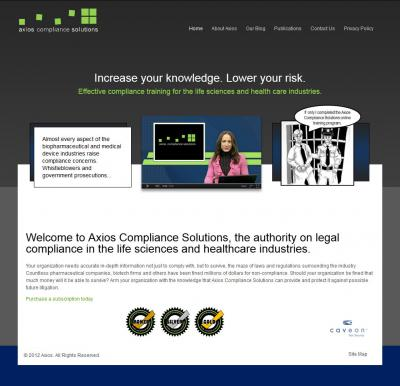 Axios Compliance Solutions Corporate Website