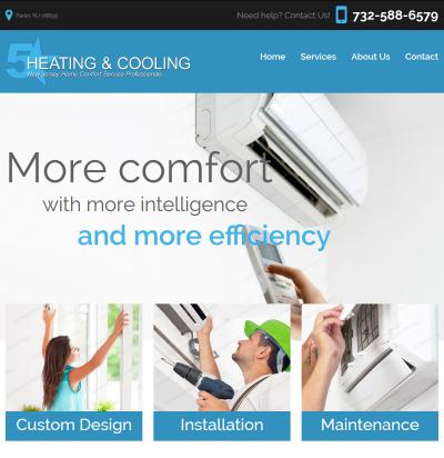Five Star HVAC Website Design & Development