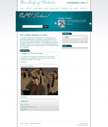 Our Lady of Victories School Website Design and Development