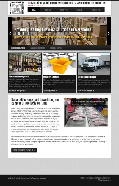 Packaging & Distribution Resources Website Design & Development