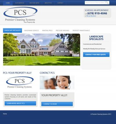 Premier Cleaning Systems Website Design & Development