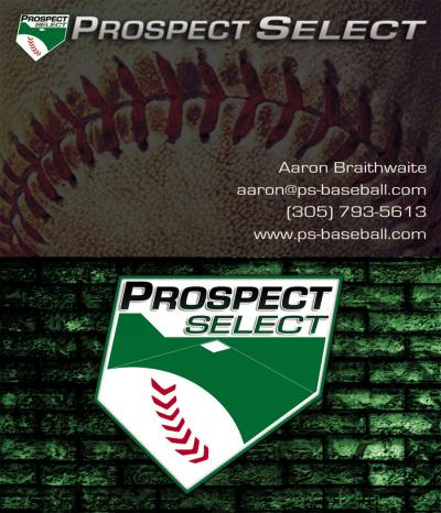 Prospect Select Baseball Business Card Design