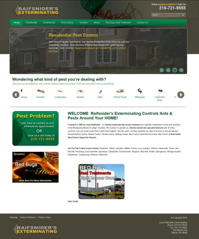 Raifsnider's Exterminating Website Re-Design
