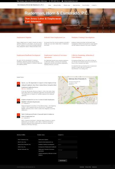 Ruderman, Horn & Esmerado, P.C. Website Re-Design