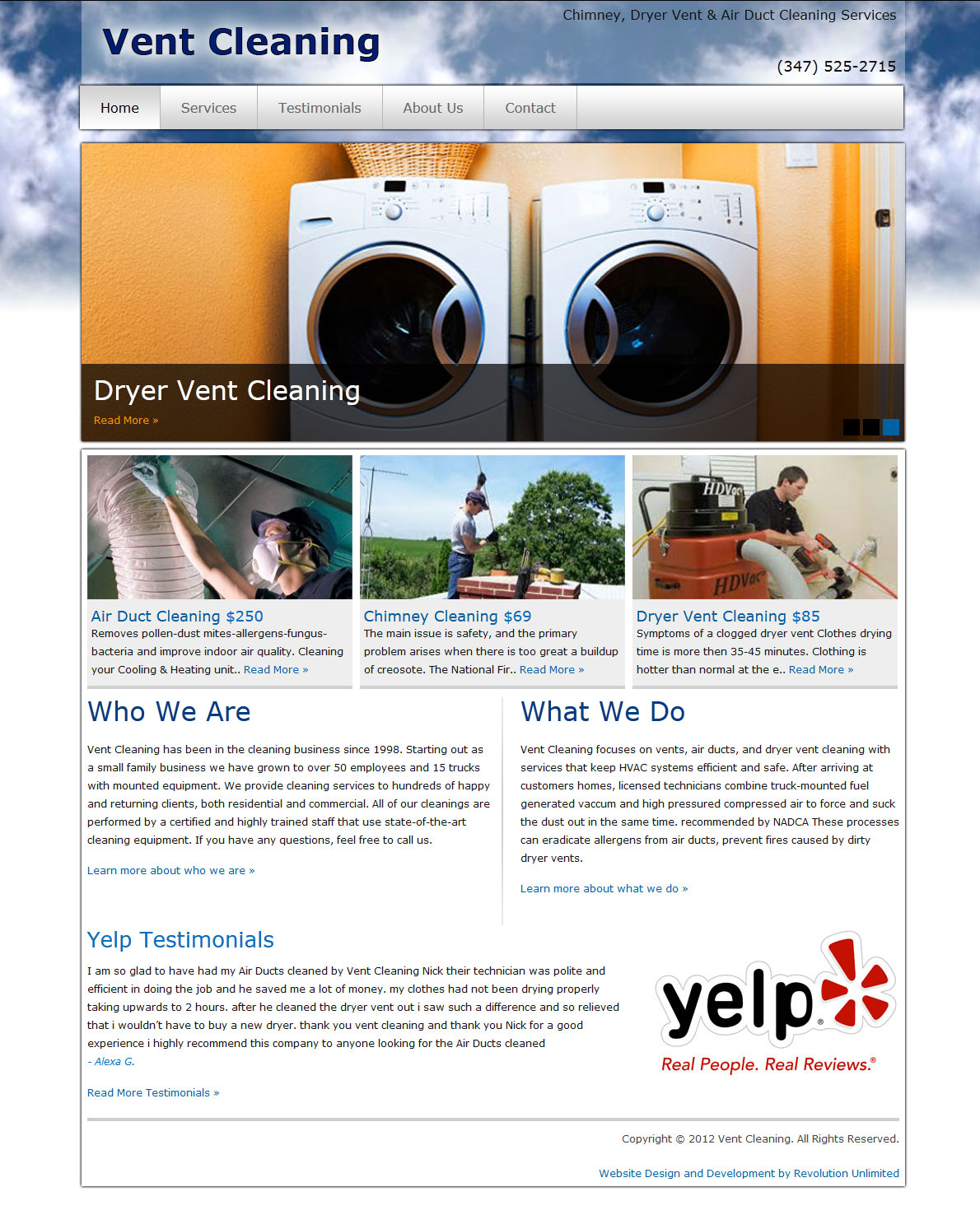 Vent Cleaning Website