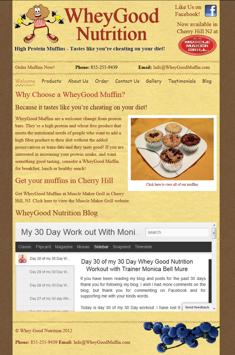 WheyGood Nutrition Website Re-Design and SEO